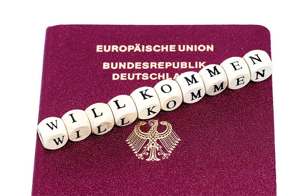 Deutscher Pass willkommen