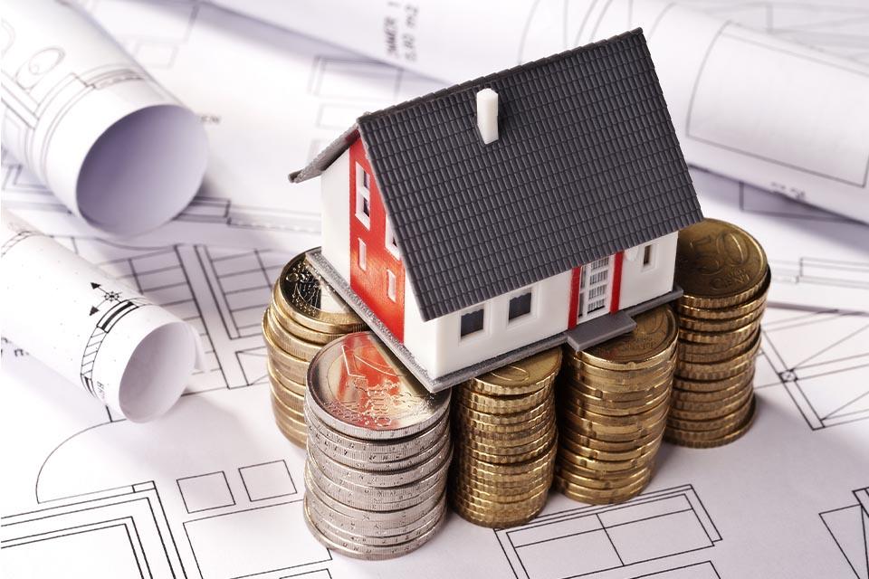 Haus auf Münzen